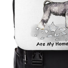 Load image into Gallery viewer, My Miniature Schnauzer Ate My Homework Backpack