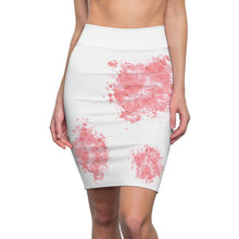 Load image into Gallery viewer, Light Red Splash Pet Fashionista Pencil Skirt