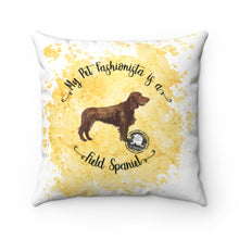 Load image into Gallery viewer, Field Spaniel Pet Fashionista Square Pillow