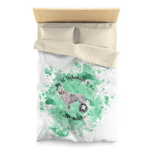 Load image into Gallery viewer, Komondor Pet Fashionista Duvet Cover