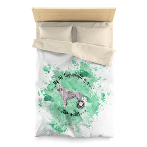 Komondor Pet Fashionista Duvet Cover