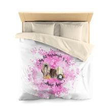 Load image into Gallery viewer, Lhasa Apso Pet Fashionista Duvet Cover