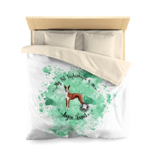 Load image into Gallery viewer, Ibizan Hound Pet Fashionista Duvet Cover
