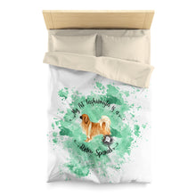 Load image into Gallery viewer, Tibetan Spaniel Pet Fashionista Duvet Cover