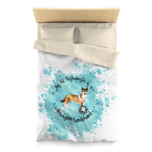 Load image into Gallery viewer, Norwegian Lundehund Pet Fashionista Duvet Cover