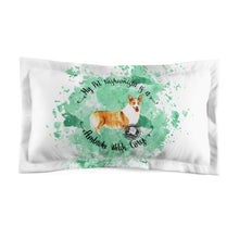 Load image into Gallery viewer, Pembroke Welsh Corgi Pet Fashionista Pillow Sham