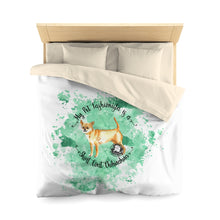 Load image into Gallery viewer, Chihuahua Short Coat Pet Fashionista Duvet Cover