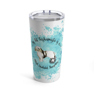 Polish Lowland Sheepdog Pet Fashionista Tumbler