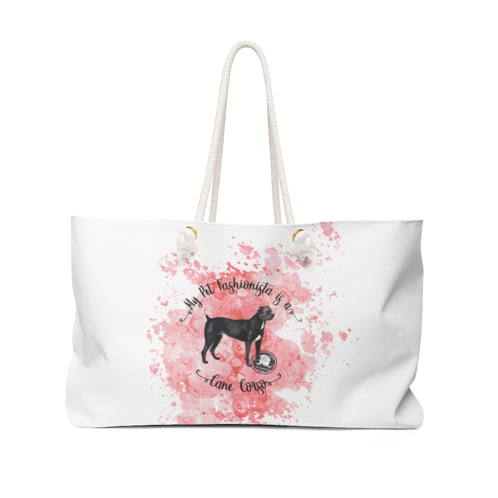 Cane Corso Pet Fashionista Weekender Bag