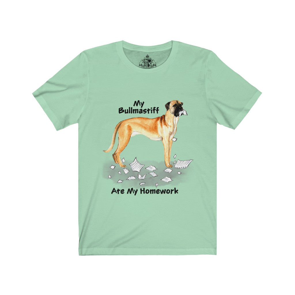 My Bullmastiff Ate My Homework Unisex Jersey Short Sleeve Tee
