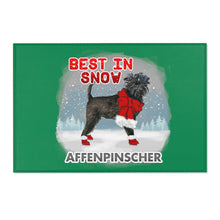 Load image into Gallery viewer, Affenpinscher Best In Snow Area Rug