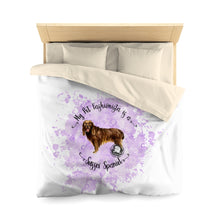 Load image into Gallery viewer, Sussex Spaniel Pet Fashionista Duvet Cover