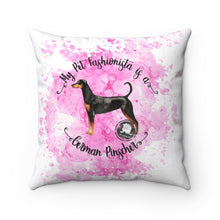 Load image into Gallery viewer, German Pinscher Pet Fashionista Square Pillow