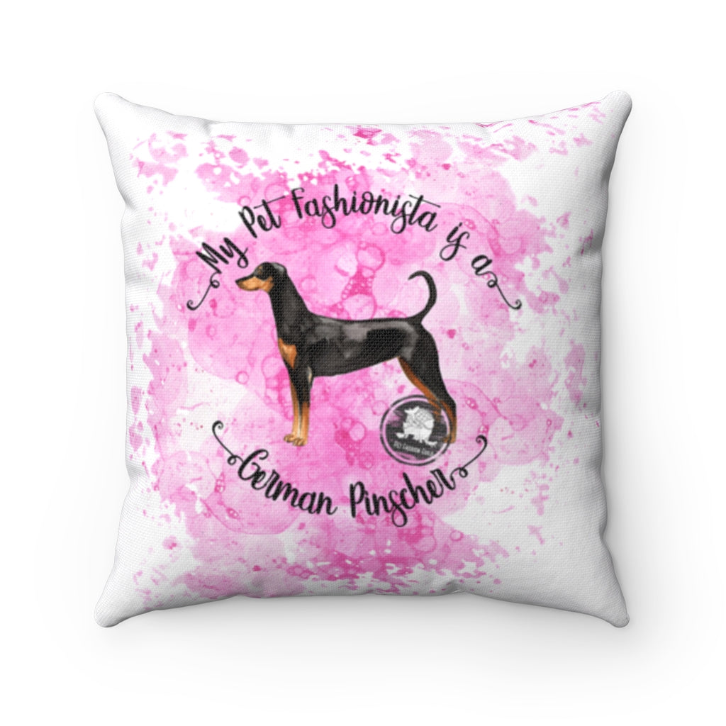 German Pinscher Pet Fashionista Square Pillow