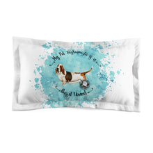 Load image into Gallery viewer, Basset Hound Pet Fashionista Pillow Sham