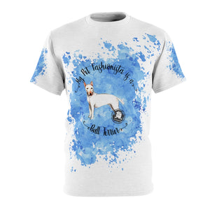 Bull Terrier Pet Fashionista All Over Print Shirt