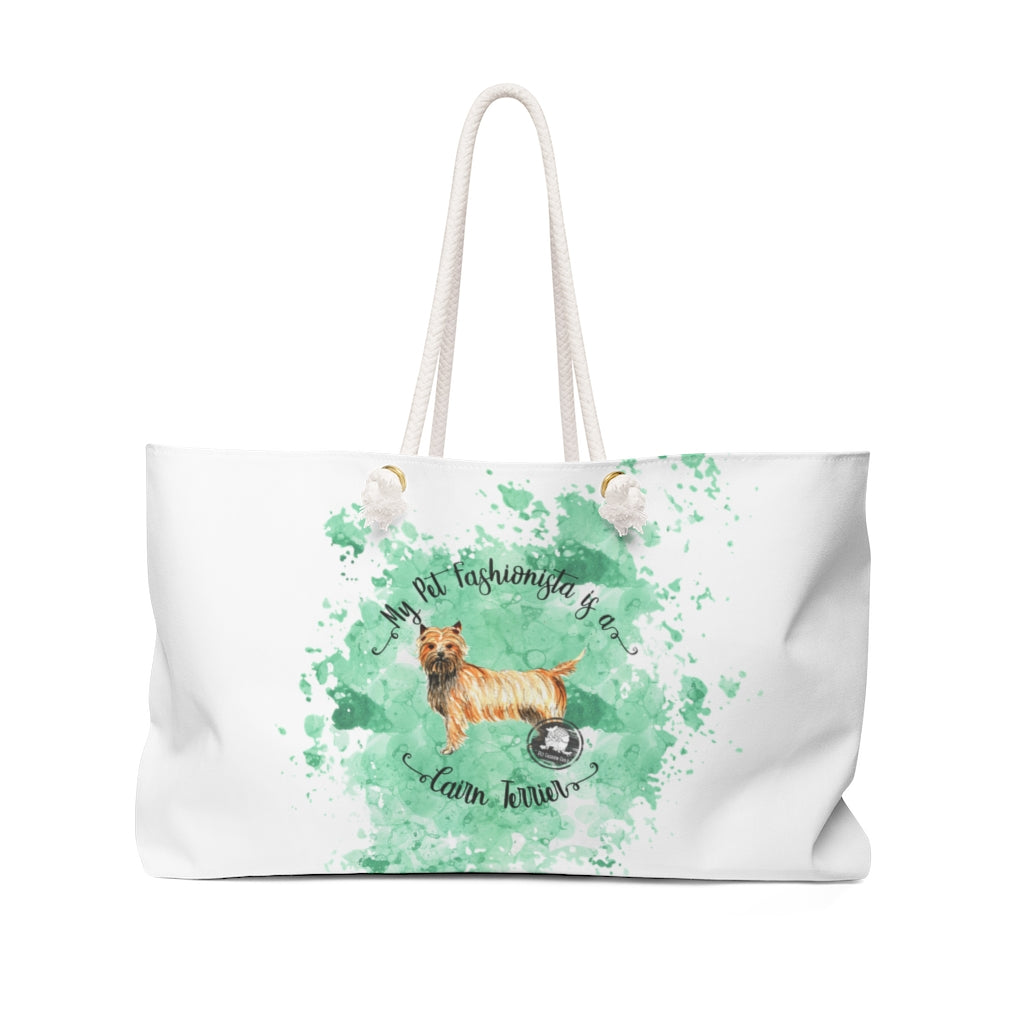 Cairn Terrier Pet Fashionista Weekender Bag