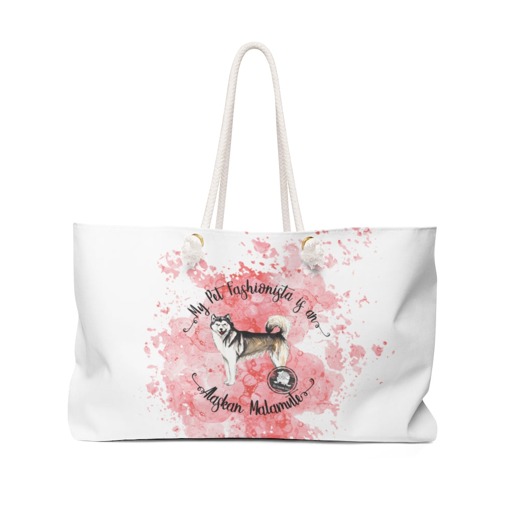 Alaskan Malamute Pet Fashionista Weekender Bag
