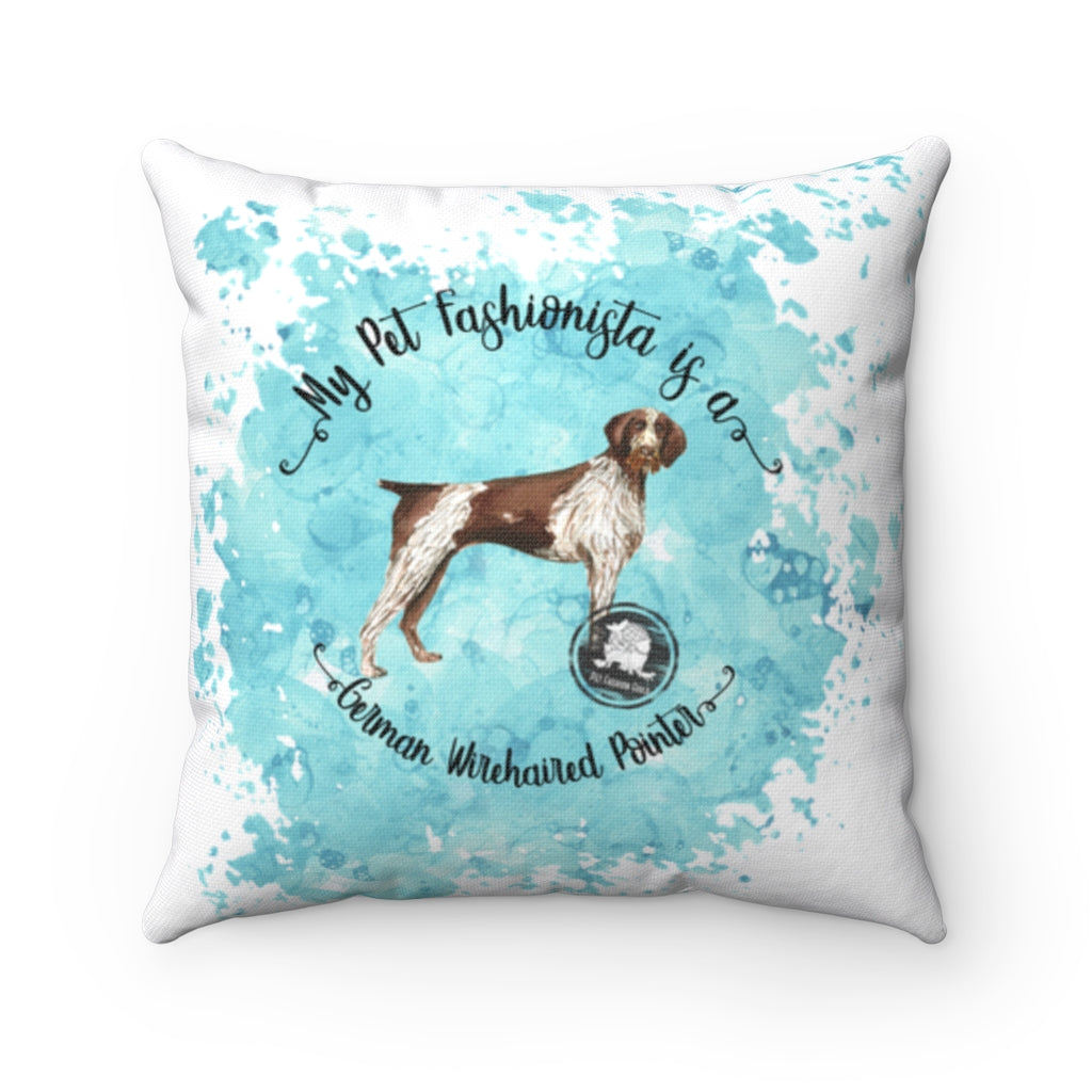 German Wirehaired Pointer Pet Fashionista Square Pillow
