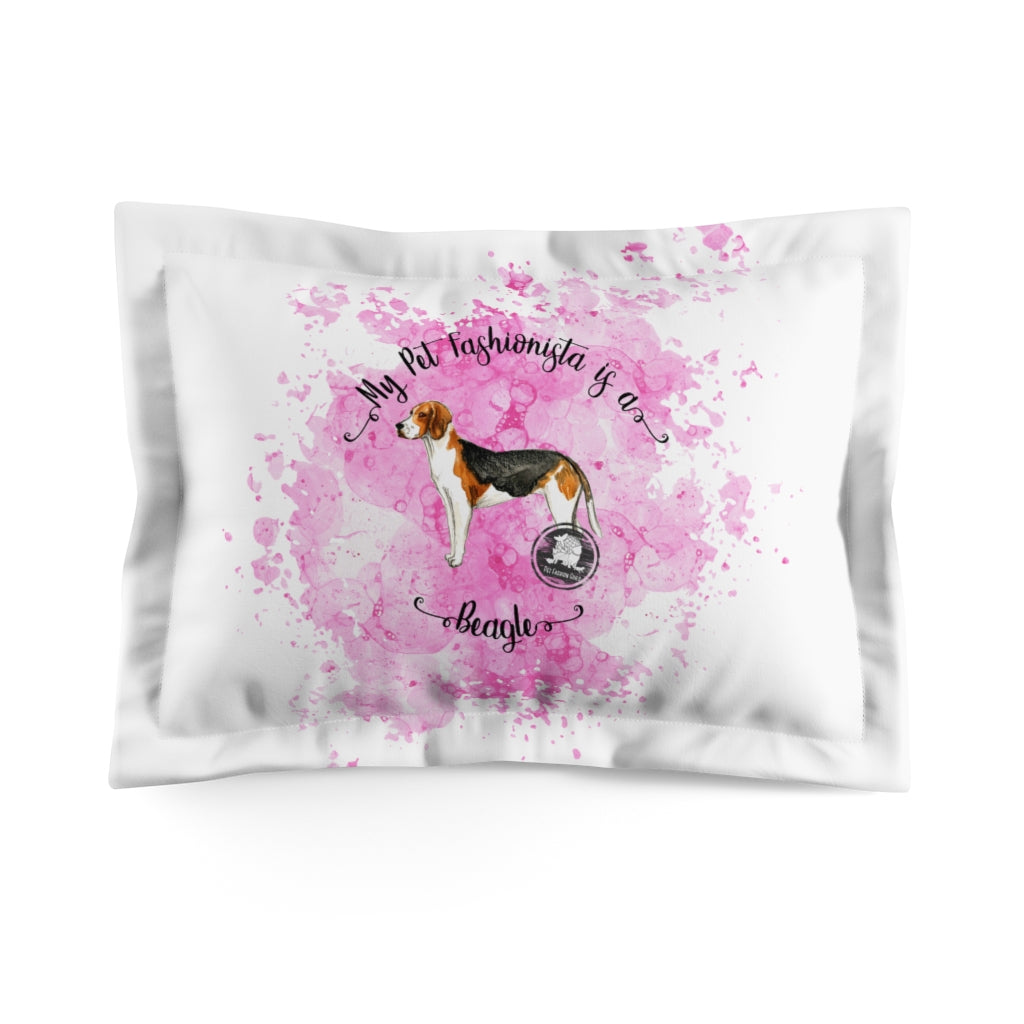 Beagle Pet Fashionista Pillow Sham