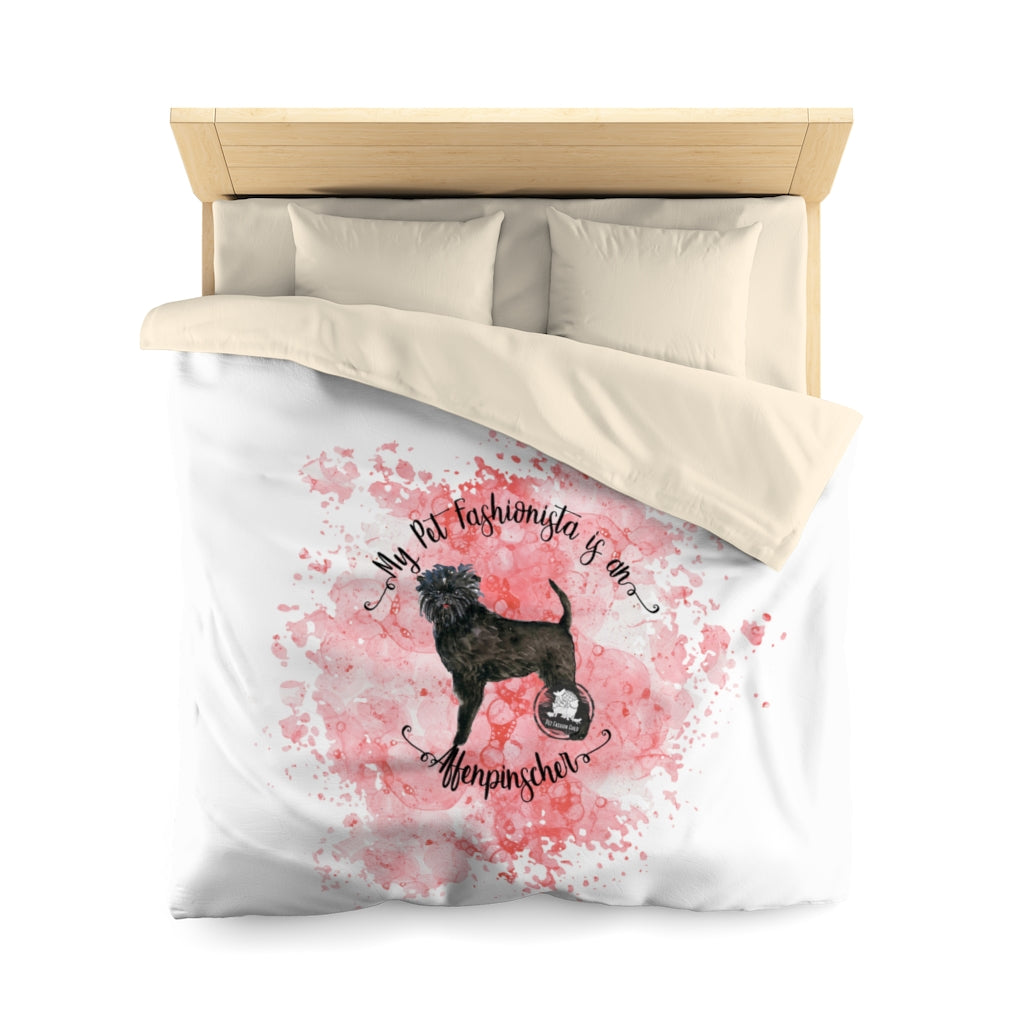 Affenpinscher Pet Fashionista Duvet Cover