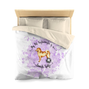 Finnish Spitz Pet Fashionista Duvet Cover