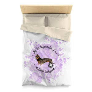 Dachshund (Wire haired) Pet Fashionista Duvet Cover