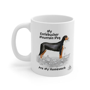 My Entlebucher Mountain Dog Ate My Homework Mug