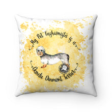 Load image into Gallery viewer, Dandie Dinmont Terrier Pet Fashionista Square Pillow