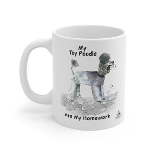 My Toy Poodle Ate My Homework Mug