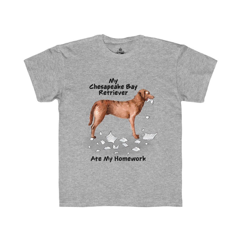 My Chesapeake Bay Retriever Ate My Homework Kids Regular Fit Tee
