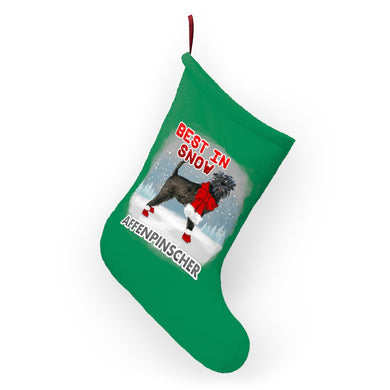 Affenpinscher Best In Snow Christmas Stockings