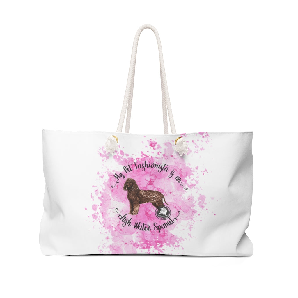 Irish Water Spaniel Pet Fashionista Weekender Bag