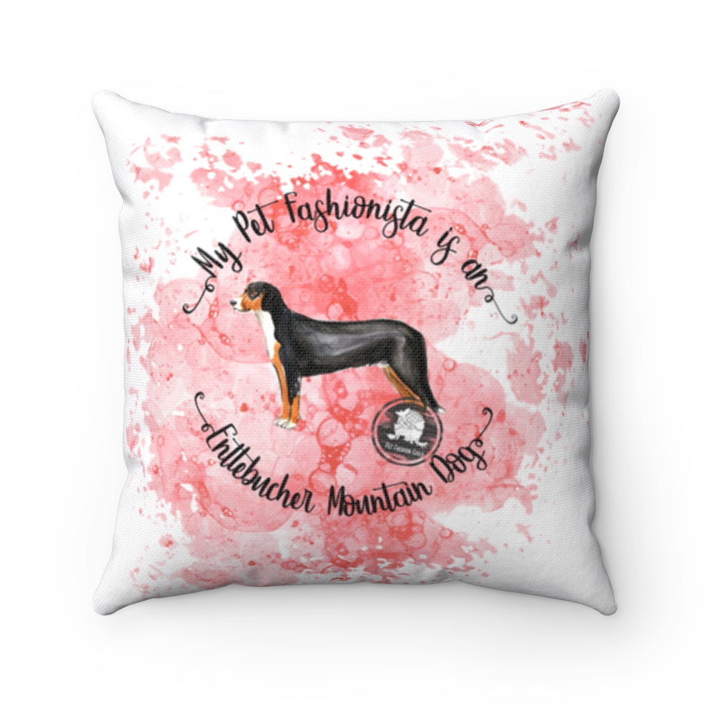 Entlebucher Mountain Dog Pet Fashionista Square Pillow