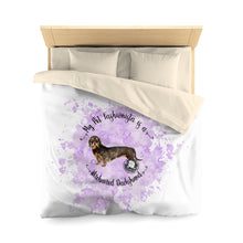 Load image into Gallery viewer, Dachshund (Wire haired) Pet Fashionista Duvet Cover