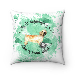 Glen of Imaal Terrier Pet Fashionista Square Pillow