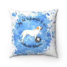 Load image into Gallery viewer, Labrador Retriever Pet Fashionista Square Pillow