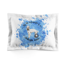 Load image into Gallery viewer, Bedlington Terrier Pet Fashionista Pillow Sham