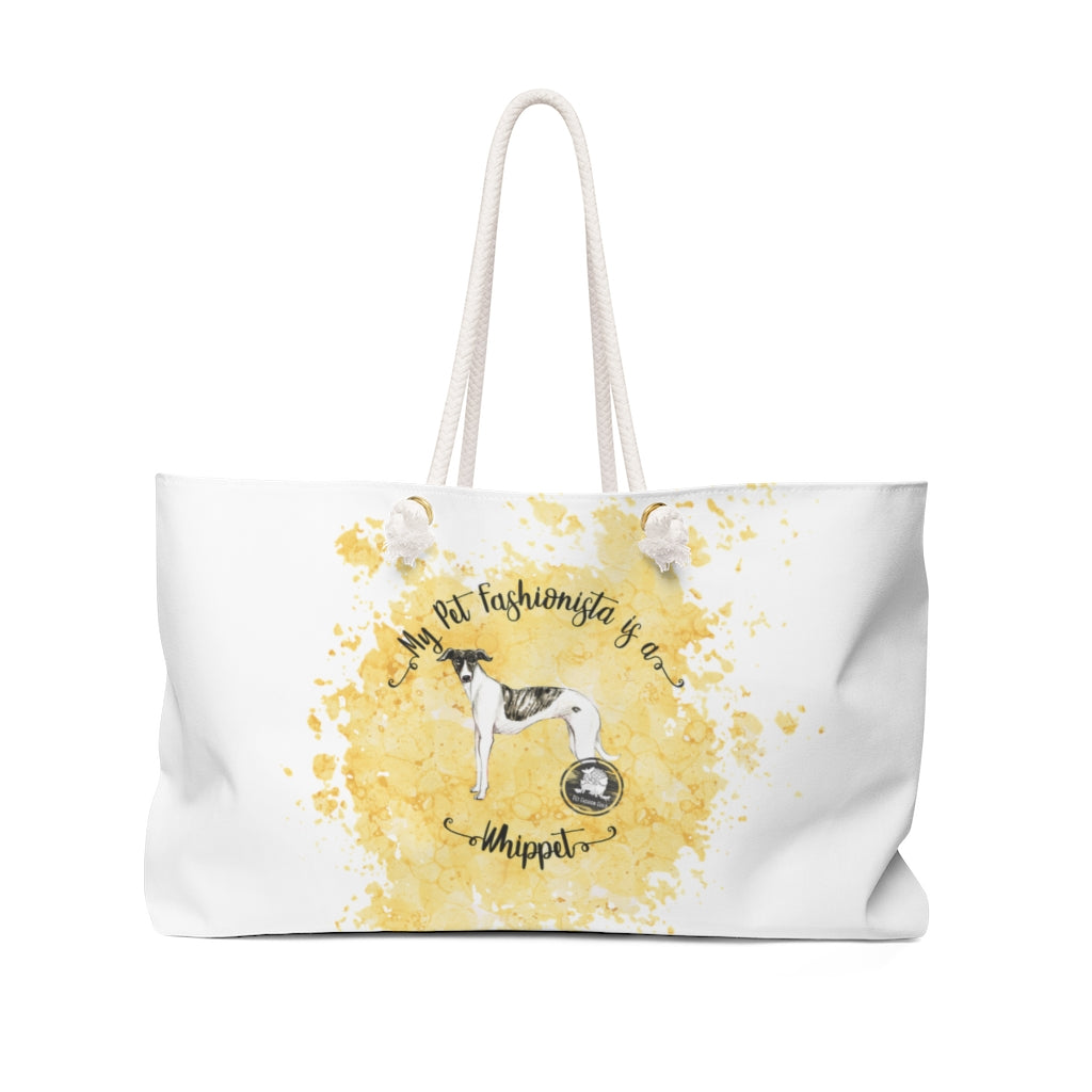 Whippet Pet Fashionista Weekender Bag