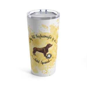 Field Spaniel Pet Fashionista Tumbler