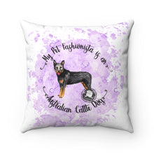 Load image into Gallery viewer, Australian Cattle Dog Pet Fashionista Square Pillow