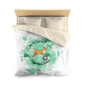 Staffordshire Terrier Pet Fashionista Duvet Cover
