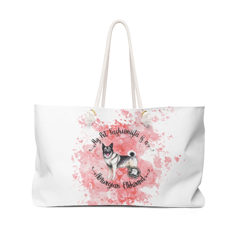 Norwegian Elkhound Pet Fashionista Weekender Bag