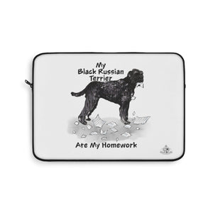 My Black Russian Terrier Ate My Homework Laptop Sleeve