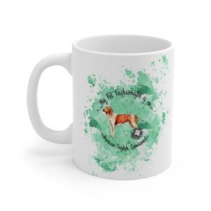 American English Coonhound Pet Fashionista Mug