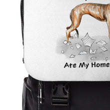 Load image into Gallery viewer, My Greyhound Ate My Homework Backpack