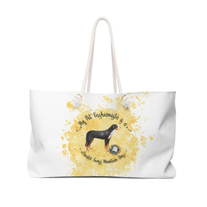 Greater Swiss Mountain Dog Pet Fashionista Weekender Bag