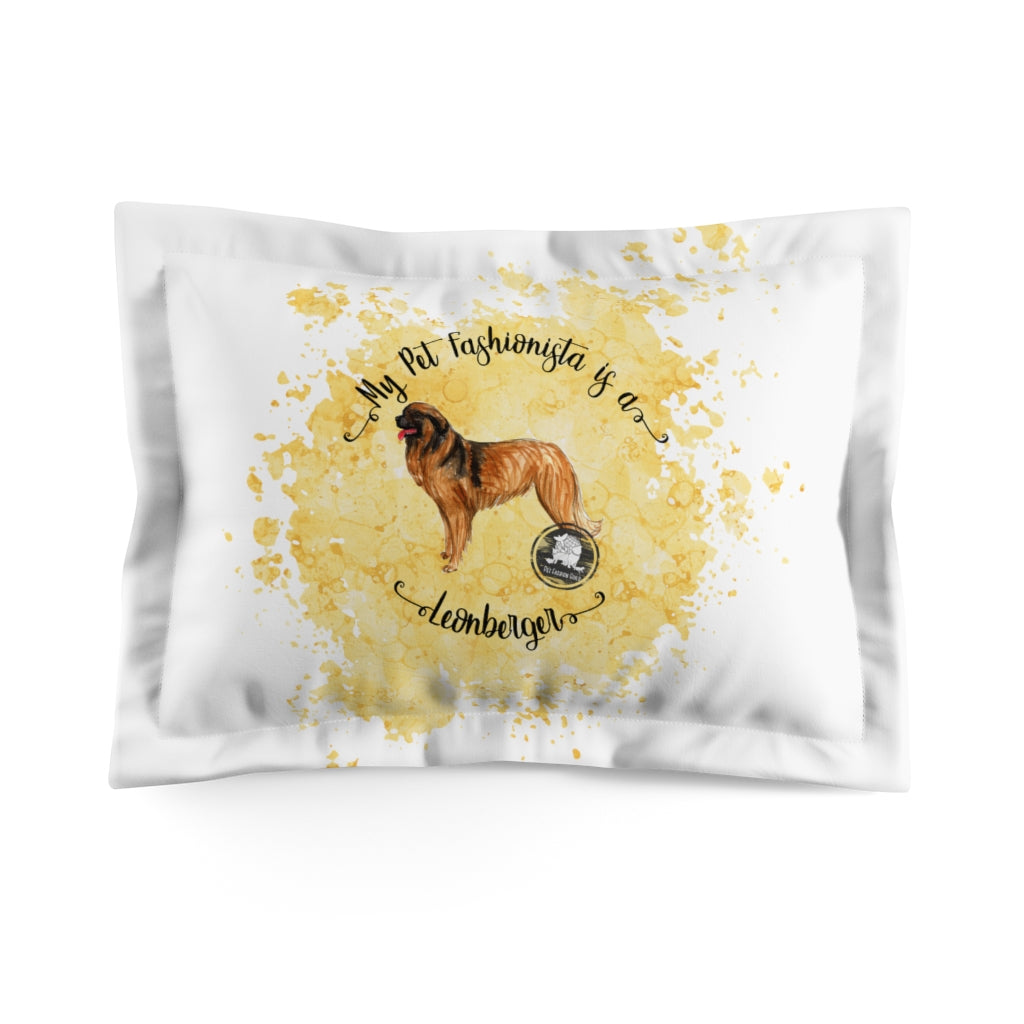Leonberger Pet Fashionista Pillow Sham