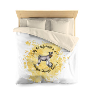 Miniature Schnauzer Pet Fashionista Duvet Cover
