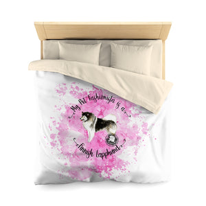 Finnish Lapphund Pet Fashionista Duvet Cover